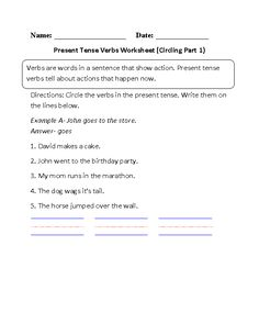 Past Tense Verbs in Context Worksheets | Englishlinx.com Board ...