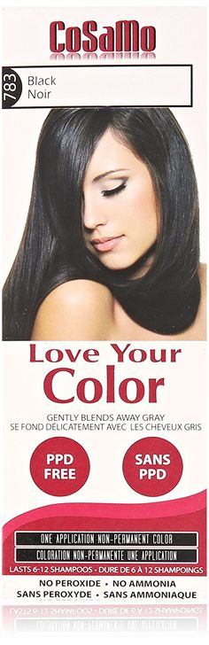 Love Your Color Cosamo Non Permanent Hair Color, Black *** See this great product.