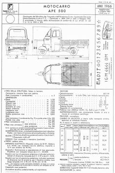 piaggio ape dimensions and specifications | truck | pinterest