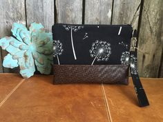 Wristlet Wallet Black Vegan Leather Wristlet by RavensMoonDesigns