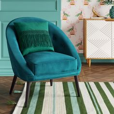 Portia Button Tufted Velvet Barrel Chair - Opalhouse™ : Target