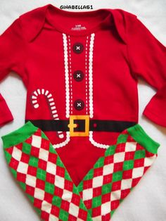 baby Boy First Christmas outfit Santa Baby little by GinaBellas1, $19.95