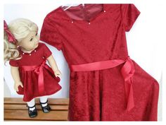 Matching Girl and Doll Christmas Sequined  by BonJeanCreations, $59.49