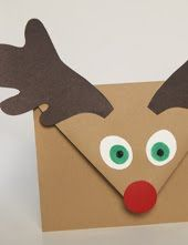 DIY Rudolph's Gift Card Envelope