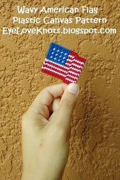 EyeLoveKnots: Wavy American Flag - Free Plastic Canvas Pattern
