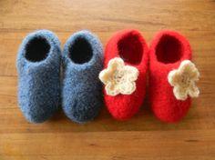 Crochet Pattern PDF for Felted Crochet Children Slippers, Felted crochet Slipper pattern, size 12-18m