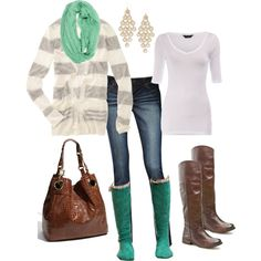 Love the brown boots