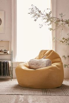 926380ec5222 The Bean Bag Chair Trend Is Upgrading Your Childhood Favorite