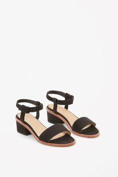 COS image 2 of Nubuck sandals in Black