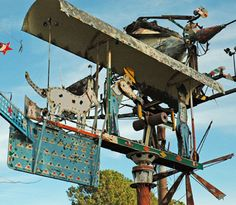 Vollis Simpson's whirligigs are now in museums and galleries around the country, and his Windmill Farm is listed as one of NC's stops in Roadside America. He has been on 60 Minutes, PBS and lots of art or outsider art publications.