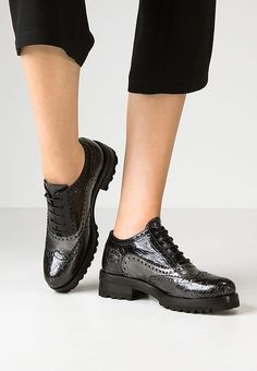 Chaussures à lacets neropiombodark navy. Derbies Franco Russo Napoli