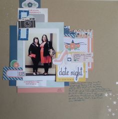 This page by scrapfaire at scrapbook.com looks fabulous. Love how much product she used yet picture stands out.