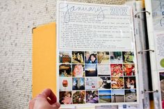The backside of my January Month-In-Review insert. PROJECT LIFE