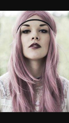 Pinkish lavender hair