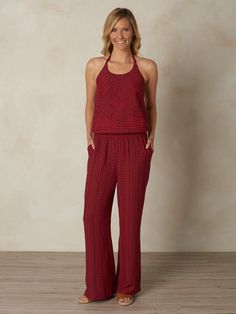 Probablyour biggest obsession from prAna this season, the Bijou jumpsuit features a striking, tribal-inspired geometric print. It has a stretch dropped waist f