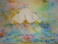 Lotus Temple Watercolor