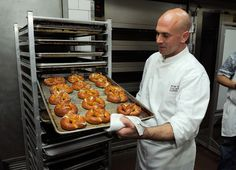 Chef Ben Hershberger teaches a class during the New York Culinary Experience hosted by New York magazine and The French Culinary Institute at The French Culinary Institute on October 3, 2010 in New York City. New York Culinary Experience:   New York City is a haven for food festivals. Here we have Chef Ben Hershberger showing off some fresh soft pretzels at the New York Culinary Experience in 2010. Delish!