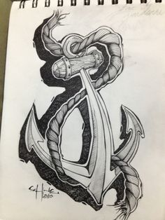 Anchor Tattoo Design by Ferb Aguilar, via Behance