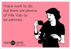 I have work to do, but there are photos of Ville Valo to be admired. | Cry For Help Ecard