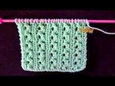 Knitting Stiches, Knitting Videos, Knitting Charts, Baby Knitting, Knitting Patterns, Crochet Patterns, Knit Crochet, Crochet Hats, Headbands