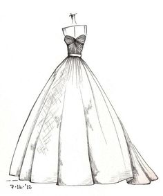 Weddinng Dress Illustration By Lisa M: Inspiring Dress Sketches For Wedding Dress