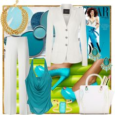 Oceans real color by milkalilien on Polyvore featuring Ter de Caractère, Oui, P.A.R.O.S.H., Ben-Amun, Kate Spade and Louche