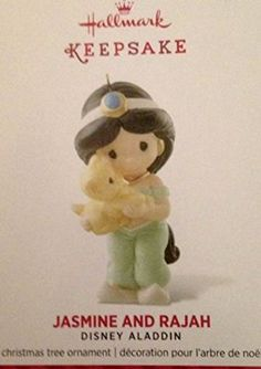 Hallmark 2014 Limited Edition Jasmine and Rajah Disney Aladdin Ornament by Hallmark