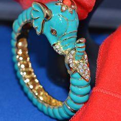KENNETH JAY LANE  Teal Raj Elephant Ltd. Edition Bracelet