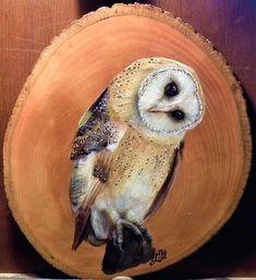 Animal Painter, Animal Paintings, Wood Painting Art, Tole Painting, Owl Art, Bird Art, Loro Animal, Tyto Alba, Abstract Face Art