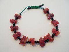 Vintage CHINESE Calendar Carved CORAL Charm Bracelet Unique & Rare Snake Rat NR! #Unbranded #CharmStatement