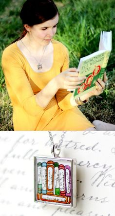The Book Lover's Collection necklace -- customized with up to 7 of your favorite titles. Which would you choose?