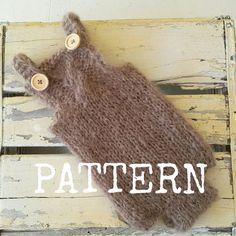 Newborn Baby Romper knitting PATTERN  baby by CraftyStuffBabyHats