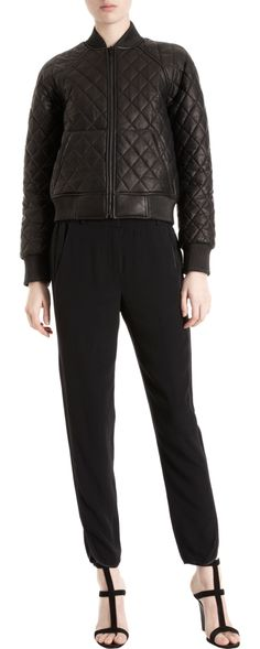 Alexander Wang Quilted Leather Bomber Jacket
