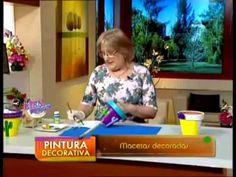 Reciclaje. Decoración de macetas - YouTube Cactus, Spanish Art, Learn To Paint, Decoupage, Youtube, Burlap, Planters, Learning, Videos