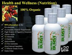 Iaso Nutraburst has many health benefits because it is a liquid formula. A full 98% of its contents are absorbed directly into your bloodstream. http://teamlifefreedom.com/nutraburst