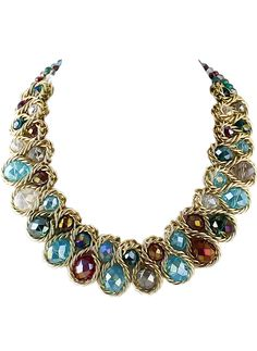 Shop Multicolor Gemstone Gold Chain Necklace online. Sheinside offers Multicolor Gemstone Gold Chain Necklace & more to fit your fashionable needs. Free Shipping Worldwide!
