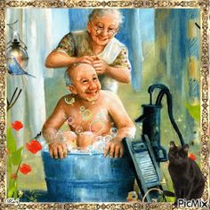 Grandparents / old couple DIY Diamond Painting Kit. Crystal Round Drill diamond painting with full pasting area. This is a timeless piece that looks good in any decor and makes the perfect addition to your Diamond Art Collection. Vieux Couples, Old Couples, Diamond Drawing, 5d Diamond Painting, Diamond Art, Illustrations, Illustration Art, Foto Picture, Growing Old Together