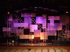 Cheap Metal Stage Design, Enhanced With Lights And Gobos.