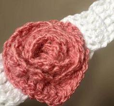 Bale riñas y diademas tejidas con rosas para bebés y niñas