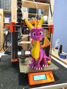 Spyro the Dragon printed by Rapterron #toysandgames #prusai3 #mmu2
