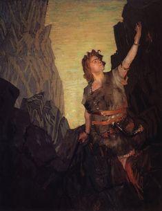 Boris Mikhailovich Kustodiev (1878-1927), Portrait de V.I. Ershov en Siegfried - 1908 Artistic Movement, Ballet Posters, Art Database, Painting, Romanticism, Visual Art, Art, Portrait, Realism