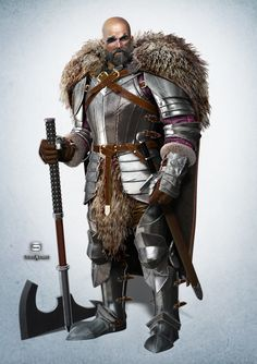 ArtStation - Barbarian knight, NIkolay Naydenov