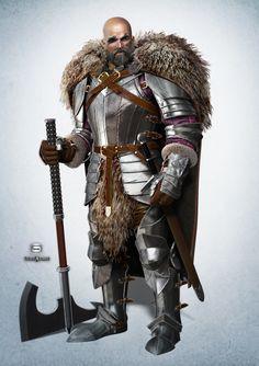 ArtStation - Barbarian knight, NIkolay Naydenov
