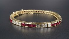 New 10.5Ct Emerald And Diamond 14K Yellow Gold Tennis Bracelet Over 925 Silver