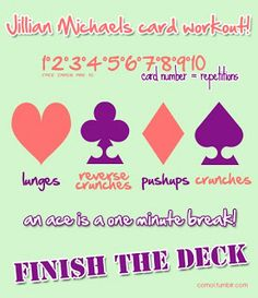 Jillian Michaels card workout! Awesome idea :D