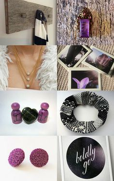 Purple and Black by Jasmine on Etsy--Pinned with TreasuryPin.com