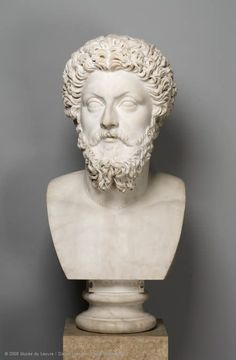 The emperor Marcus Aurelius  Between AD 180 and 183  Provenance: villa of Marcus Aurelius' daughter Lucilla at Acqua Traversa, near Rome (Italy)  Marble  H. 66 cm  Former Borghese collection. Purchased in 1807  Emperor from AD 161 to 180  Inventaire MR 559 (n° usuel Ma 1179)    Louvre Museum   Paris