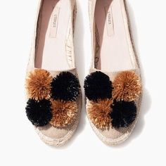 """49 Likes, 3 Comments - Loome (@theloome) on Instagram: """"In the long weekend bag! Fave @uterqueofficial poms slip ons."""""""