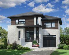 Cette maison à étage est idéale pour une famille. Elle offre une surface habitable de 1 724 pieds carrés et mesure 35 pieds 10 pouces de largeur sur 31 pieds de profondeur. Le garage simple de 265 pieds carrés dispose d'une porte de service donnant sur l'arrière. Une fenêtre en bandeau est installée au-dessus de la porte du garage et une autre dans le mur latéral. Cette maison est également offerte avec un toit plat, veuillez consulter le plan 81564 pour voir l'illustration. <br/> ...