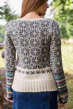 RINGS & ROSES MØNSTERGENSER - genseren fra Dale Garn. Her i garnkvaliteten Lanolin Wool,